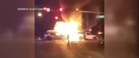 Police: Suspects in stolen car cause fiery crash
