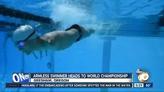 Armless swimmer prepares for World Championship - Video