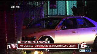 No charges will be filed against Indianapolis officers following the fatal shooting of Aaron Bailey - Video