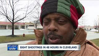 A violent weekend in Cleveland as eight shootings leave eight people injured - Video