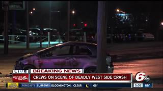 Man killed in rollover crash on Indy's west side