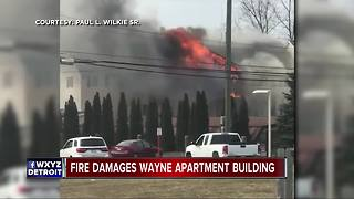 Firefighters battling fire at apartment complex in Wayne - Video
