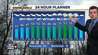 Warmer and windy into Tuesday - Video
