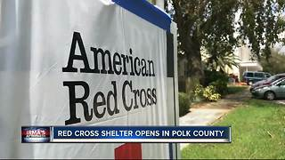 Red Cross shelter opens in Polk County - Video
