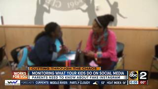 Finstagram: Monitoring what your kids do social media - Video