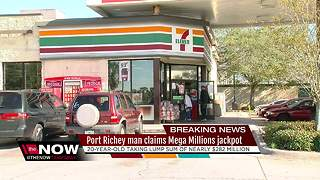 20-year-old Port Richey man claims $450 million MEGA MILLIONS jackpot - Video