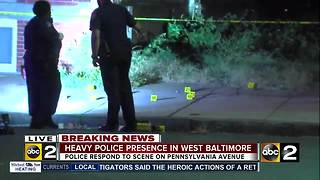 Double shooting in West Baltimore - Video