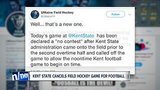 Kent State calls off women's field hockey game so football game could start on time