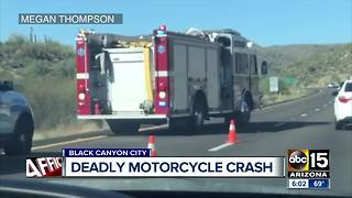 Rider killed in motorcycle crash in Black Canyon City - Video