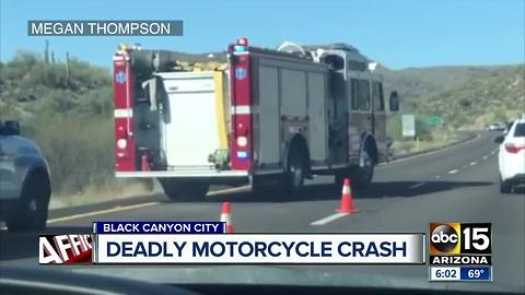 Rider killed in motorcycle crash in Black Canyon City