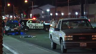 Woman hit, killed by truck on Nellis Boulevard