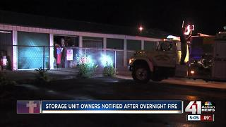 Fire damages storage facility in Clay County - Video