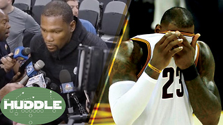 Kevin Durant DEFENDS His Decision to Leave OKC, Did LeBron James CHOKE vs Celtics? -The Huddle - Video