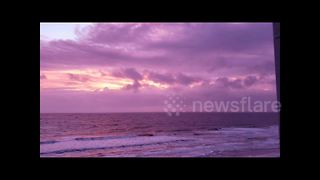 Gorgeous sunset hue after Hurricane Michael ravages Florida Panhandle - Video