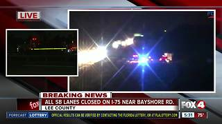 Four vehicle crash shuts down I-75 S near Bayshore Road