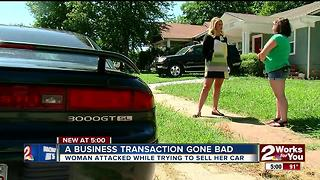 Woman knocked out, car stolen by stranger - Video