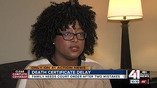 Grieving family still waiting for mother's death certificate