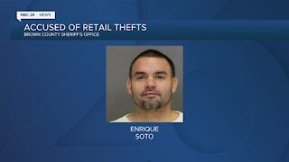 Man accused of 18 retail thefts in Brown County