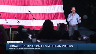 Donald Trump Jr. rallies Michigan voters