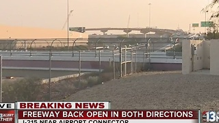 Interstate 215 reopens after being closed temporarily - Video