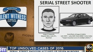 Unsolved Cases of 2016: Serial Street Shooter strikes in Phoenix - Video