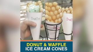 Temple Terrace shop offers nitrogen ice cream with doughnut & waffle cones - Video