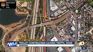 Trolley construction causing traffic, noise - Video