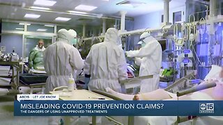 Unproven therapies and misleading COVID-19 claims