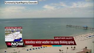 Relentless winter weather has many thinking spring - Video