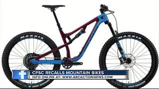 Rocky Mountain Bicycles recall mountain bikes due to crash hazard - Video