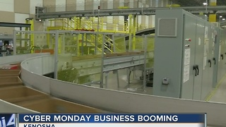Kenosha's Amazon facility busy with Cyber Monday orders - Video