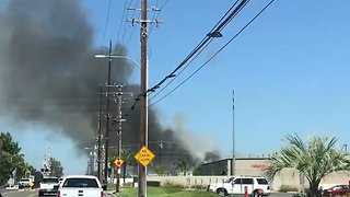 Smoke Billows From Chemical Supply Shop Fire in Anaheim - Video