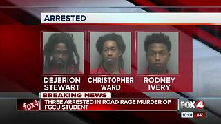 Three arrested in San Carlos road rage murder of FGCU student - Video