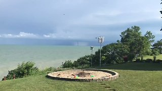 Waterspout Spotted Near Lake Erie's Ohio Shoreline - Video
