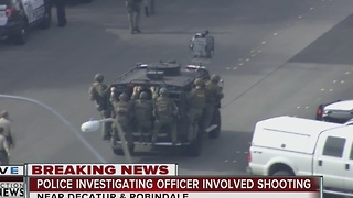 Man barricaded in house after firing at Las Vegas police - Video