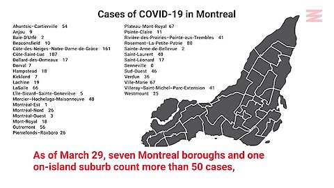 A New List Of COVID-19 Cases By Montreal Borough Shows The Scope Of The Outbreak