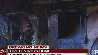 Firefighters investigate overnight house fire
