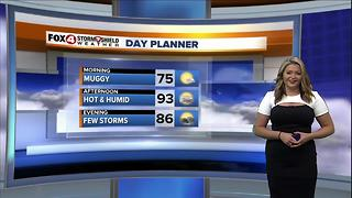 Hot & Humid With a Few Afternoon Storms - Video