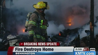 Fire consumes home in Bennington - Video