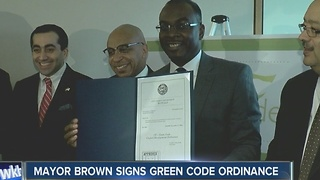 Buffalo Mayor Byron Brown signs