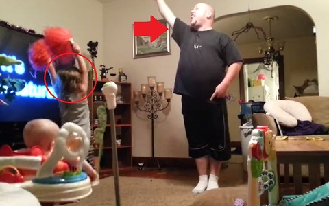 You'll be shocked to see how DAD watches the KIDS when MOM isn't home