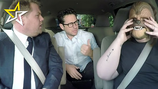'Chewbacca Mom' Takes A 'Ride' With J.J. Abrams On Jame Corden's 'Late Late Show' - Video