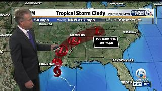 Tropical Storm Cindy 11 p.m. update - Video