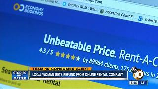 South Bay woman gets refund from online rental company - Video