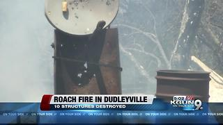 Multiple structures destroyed in Roach Fire - Video