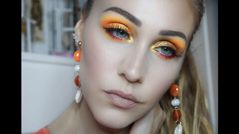 Easy and fun 'sunset vibes' makeup tutorial