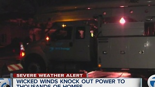 32,000 without power after high winds hit metro Detroit - Video