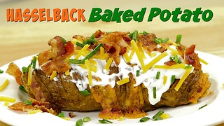 Simple snack recipes: Hasselback potatoes with cheese - Video