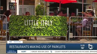 Little Italy restaurants making used of parklets