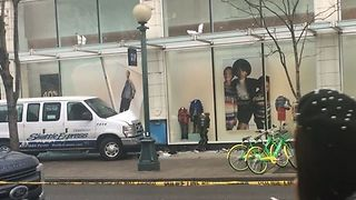 Several Injured as Van Jumps Curb, Hits Building in Downtown Seattle - Video